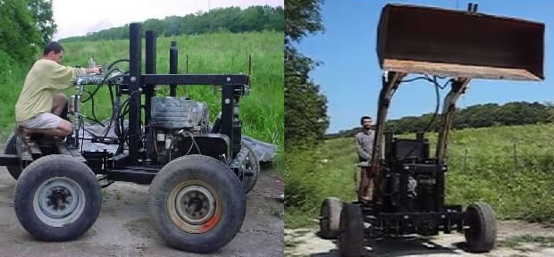 how to make a homemade tractor