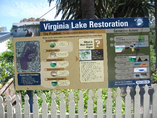 Virginia Lake Sign